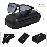 Zealme HD Night Vision Glasses Rain Day Safety Polarized Fashion Metal Frame Driving Sunglasses for Men with Sun Glasses Case