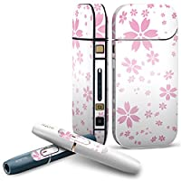 IQOS 2.4 plus 専用スキンシール COMPLETE アイコス 全面セット サイド ボタン デコ フラワー 花 桜 ピンク 002611