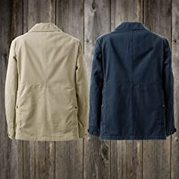 Waste (Twice) Hunter Jacket: Dark Tan, Navy
