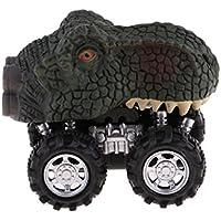 SM SunniMix ミニ プラスチック 恐竜車モデル 誕生日 ギフト 全4選択 - #2