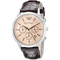 Emporio Armani Men's AR2433 Dress Brown Leather Watch