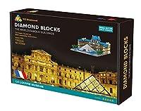 Diamond Blocks 世界的に有名な建物ルーヴル美術館 (The World Famous Buildings NO. YZ054 Le Louvre Museum) 1392 pcs [並行輸入品]