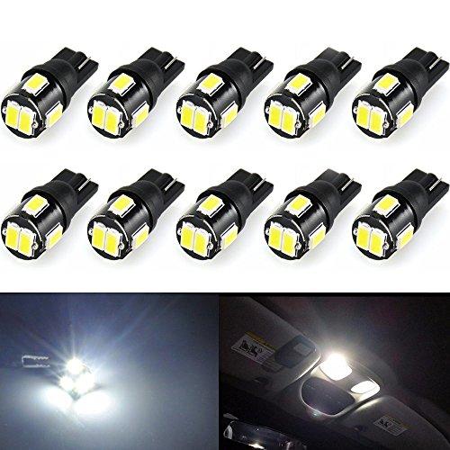 Wincar T10 LEDホワイト 爆光、高輝度 W5W ...