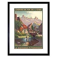 Travel Chemins Trains Sainte Suzanne Halle Mayenne Rail Framed Wall Art Print