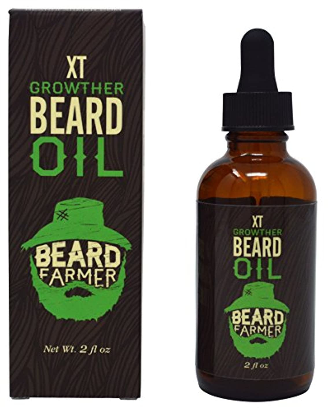 ペパーミント第二三Beard Farmer - Growther XT Beard Oil (Extra Fast Beard Growth) All Natural Beard Growth Oil 2floz