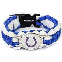 NFL Indianapolis Coltsのパラコードブレスレットレディース&メンズ – パラコードサバイバルストラップブレスレット