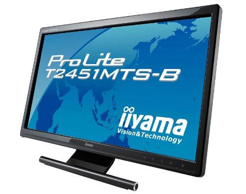 iiyama 23.6インチワイドマルチタッチ機能対応液晶ディスプレイ LEDバックライト搭載 HDMIケーブル同梱モデル マーベルブラック PLT2451MTS-B1