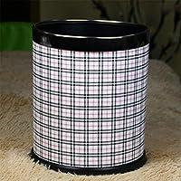 格好良いと耐久性のあるゴミ箱 ゴミ箱、ゴミ箱家庭&キッチンのゴミ箱バスルーム寝室オフィス (Color : K)