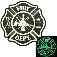 夜の暗闇で光る ACU Fire Fighter Dept EMS EMT Rescue Firemen Engine モラール Gear PVC ベルクロ面ファスナー パッチ Patch