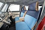 リラックス&ナチュラルスタイル 前席シートカバー(1席) 軽自動車・小型車 インディゴ×サックス