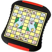 Baosity 子供 教育用 ジャングルチェス 動物チェスボードゲーム パズル 知育玩具 プラスチック製