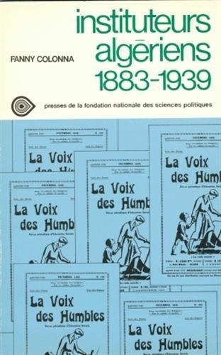 Instituteurs algériens : 1883-1939