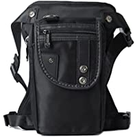 Drop Leg Bag Fanny Waist Packs for Motorcycle Steampunk Costume Outdoor Tatical Black