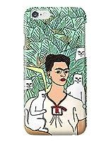 (タコストア) taco store iPhone カバー 有名 な あの アート 作品 が シュール な おもしろ イラスト に 7/8 グリーン