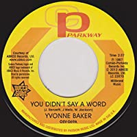 "You Didn't Say A Word / Pictures Don't Lie - Yvonne Baker / Hattie Winston 7"" 45"