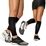 Calf Leg Compression Sleeves by Modetro Sports -Shin Splints, Circulation & Leg Cramp Compression Support Sleeves - Running, Jogging, Cycling, Fitness & Exercise Enhanced Performance - Men & Women