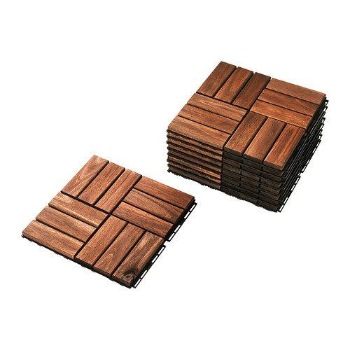 RoomClip商品情報 - IKEA RUNNEN フロアデッキ アカシア無垢材 36ピースセット 30234229