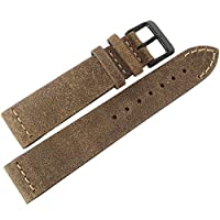ColaReb 20mm Spoleto Swamp ブラウン PVD バックル レザー 腕時計ベルト