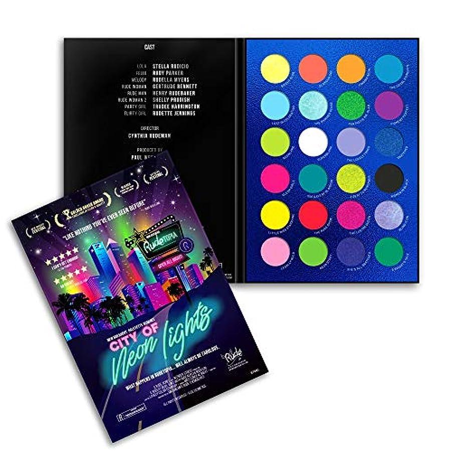 排泄するわずらわしい夜明けにRUDE City of Neon Lights - 24 Vibrant Pigment & Eyeshadow Palette (並行輸入品)