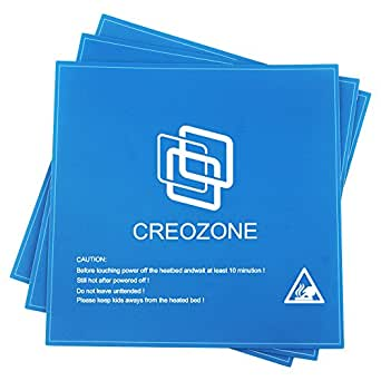 CREOZONE 3Dプリンタープラットフォームシートヒートベッド ビルドシート 214m*214mm*0.8mm ABS/PLA対応(3枚入り) (青)