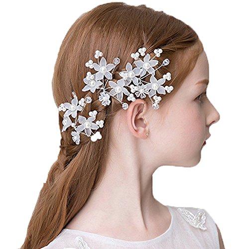 DreamYo 髪飾り フォーマル Uピン 3個 子供 フラワーガール