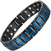 S CHANINELY Magnetic Bracelet Stainless Steel Magnets Health Chain Link Natural Pain Relief for Arthritis and Joint