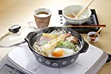 高木金属 両手鍋 ホーロー IH200V対応 18cm 味わい鍋 弥生(やよい) HA-Y18 画像