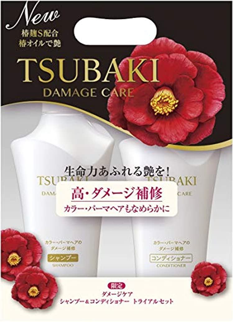 グローバル退屈数学TSUBAKI ダメージケア シャンプー&コンディショナー ジャンボペアセット (500ml+500ml)