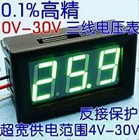 """New 0.56"""" Digital Voltmeter DC:0-200V Three wires Voltage Panel Meter led Display Color: Green"""