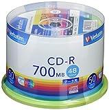 「三菱ケミカルメディア Verbatim 1回記録用 CD-R SR80FP50V1 (48倍速/50枚)」のサムネイル画像