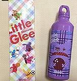 リトルグリーモンスター×ラウンドワン アルミボトル 紫 水筒 ROUND1 リトグリ