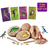 Onnetila 12 Dinosaur Eggs Dig it Up Kit - Discover 12 Unique Dinosaurs - Science Easter Eggs STEM Toys for Boys and Girls