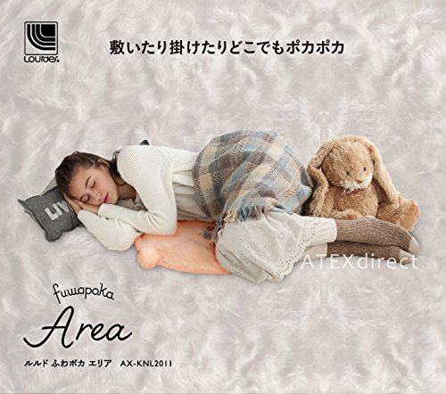 ルルド ホットマット ふわポカ エリア AX-KNL2011gr グレー