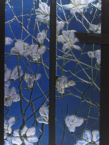 Tiffany Magnolias: Handstitched, Lined (Handstitched Tiffany Stained Glass)