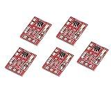 WINGONEER 5PCS TTP223タッチキーモジュール容量性の設定可能なセルフロック/ノーロックスイッチボード