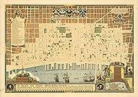 マップの古いPhiladelphiaを。、1934| Historicアンティークヴィンテージマップ再印刷 24in x 17in 552340_2417