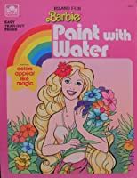 Island Fun BARBIE PAINT WITH WATER Book w Easy Tear Out Pages (1988 Golden)