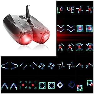 U`King ステージライト飛行船型ビーム光[128LEDs / RGBW(赤、緑、青、白)/自走音声起動]ゴボパターンスポットライトパーティーステージ照明、ミラーボールやディスコライトのために方向付け 主導128個の ブラック