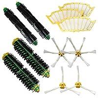 LOVE(TM)2×ブリストルブラシ&2は、柔軟なビーターブラシ&2、3武装サイドブラシ+ 2 6 - アームドサイドブラシ&3フィルタFor robotのルンバ500シリーズルンバ510、530、535、540、560、570、580、610用パックキットxは真空清掃ロボット