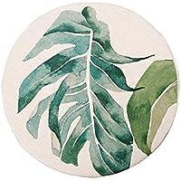 リネン布団 厚い丸いバルコニーのウィンドウの窓の畳のクッションリムーバブルと洗える,B,50x50cm / 5cm
