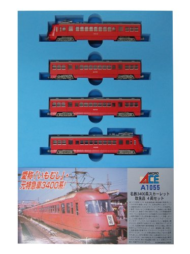 Nゲージ A1055 名鉄3400系 スカーレット 改良品 4両セット