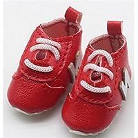 HuaQingPiJu-JP 人形アクセサリーNアルファベットの靴(赤)