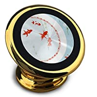 ホルダー 鯉 マグネット式車載ホルダー スマホホルダー ユニバーサル 360度回転 強力ゲル吸盤式 エアコン吹き出し口用 取り付け簡単/360度回転可能/片手操作/磁気吸引機能