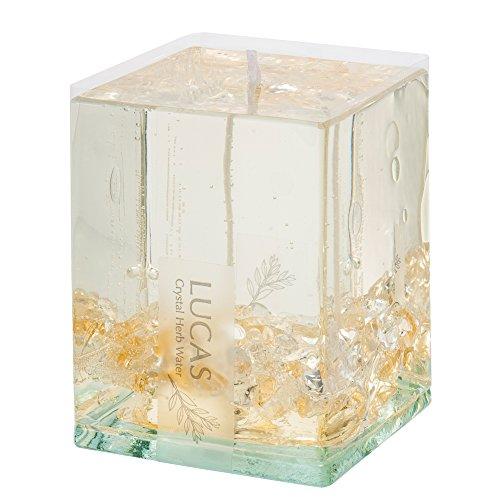 ホワイトセージ浄化キャンドル LUCAS - ルカス - シトリン (シトラス(柑橘)&セージの香り)【瞑想・マインドフルネスに】