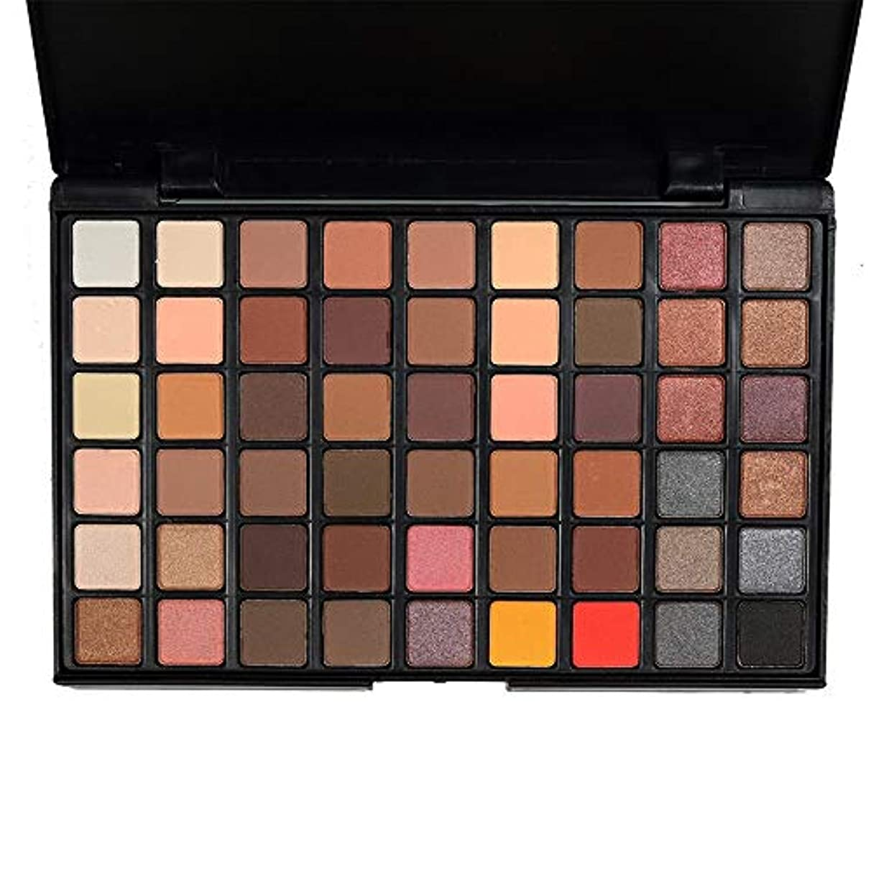キャッチ不健康被る54色化粧品パウダーアイシャドウパレットスモーキー/ウォームカラーメイクアップナチュラルメタリックシマーピグメントマットセット (Color : A)