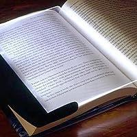 LuxBene(TM)LEDライトウェッジパネルブック読書ランプペーパーバックナイト#1715