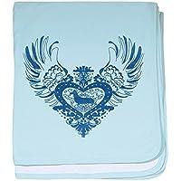 CafePress – Dachshund – スーパーソフトベビー毛布、新生児おくるみ ブルー 052191570025CD2