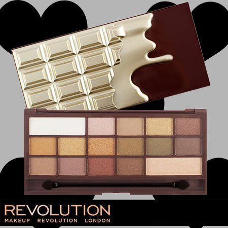 メイクアップレボリューション アイラブメイクアップ アイラブチョコレート #ゴールデンバー 16色アイシャドウパレット -MAKEUP REVOLUTION-