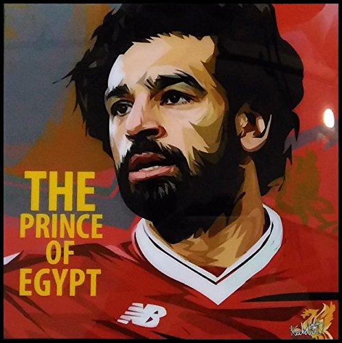 モハメド・サラー リバプールFC エジプト代表 海外サッカーグラフィックアートパネル 木製ポスター インテリア