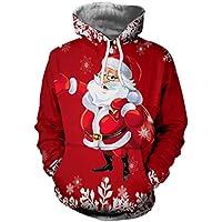 スウェットシャツ メンズ クリスマス 秋 大きいサイズ パーカー Duglo 3Dプリント 冬 サンタクロース エルク 個性的 ポケット 帽子 ストリート系 ブラウス 長袖 トップス 運動 おしゃれ Tシャツ 日常 カジュアル ゆったり 春 カットソー 上着